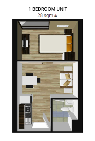 1bedroom unit lay out