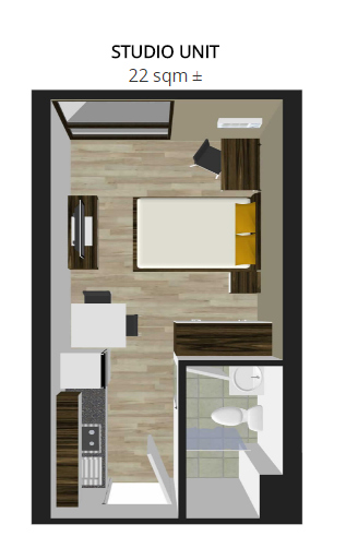 studio unit lay out